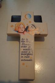 Kruis voor kinderkamer doop/geboorte, hout, 20 cm (10)