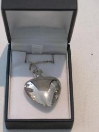 As hanger Zilver 925 hart 3 cm