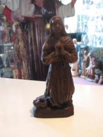 .Bernadette 12 cm jaren `50 kunststof beeldje