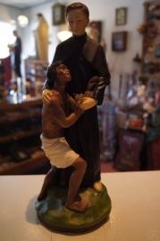 .Heilige pater Damiaan geperst marmer 32 cm