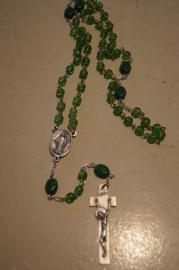 Rozenkrans St. Patrick, Ierse rozenkrans 52 cm glazen kralen