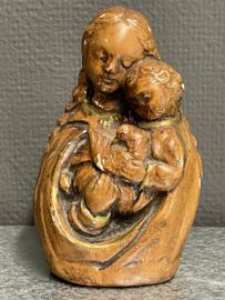 Maria met kind, borstbeeld, gips, 14 cm (6)