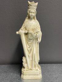 Dimpna van Geel, 22 cm, gips, (1)