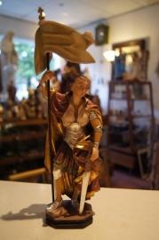 Jeanne d`Arc houten beeld 20 cm