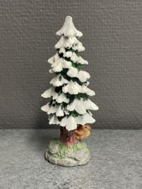 Kerstboon met eekhoorn, resin, 13 cm (9)