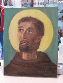 Franciscus van Asissi Olieverf op kanvas 45 x 35 cm