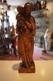 Maria beeldje gips 26 cm