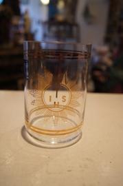 Godslampglas voor 6 dagen kaars, bohemen glas, 11 cm (2)