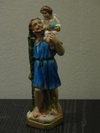 Christoffel beeldje gips 21 cm. (5)