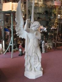 Michael Aartsengel 130 cm hoog gips Antiek