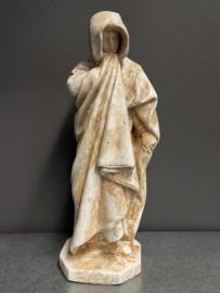 Treurende monnik, 46 cm hoog, gips (7)