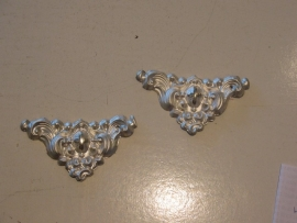 Ex-voto ornament  zilver, 9 x 5 cm  2 stuks
