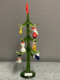 Kerstboom Glas,  19 cm,