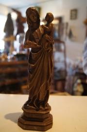 Maria, OLV van Groeninghe / Kortijk 22 cm, gips
