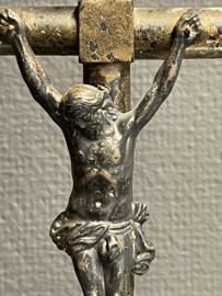 Ebben houten staand kruis, Antiek, 44 x 13 cm, 19e eeuw (8)