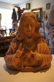 Jezus H.H. buste 33 cm hoog, ca. 1930