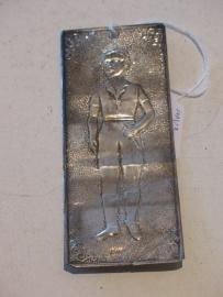 Ex-voto jongen, zilver, 11 x 4.5 cm boy