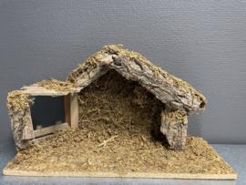 Kerststal, hout, 39x23x15 cm (9)