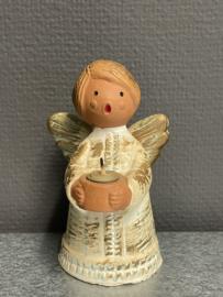 Engel, kaarsenstandaard, 1930, 12 cm, aardewerk, (0)