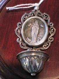 Wijwatervaatje Zilver OLV van Lourdes 5.5 cm