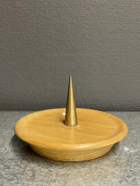 Kaarsen standaard met koperen pin, 12 cm doorsnee (7)