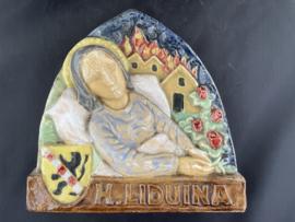 Liduina van Schiedam, aardewerk, 14 x 13 cm (5)