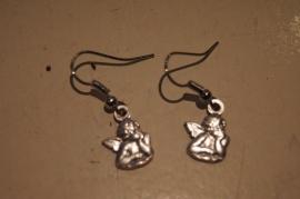 Engel oorbellen, zilver kleurig