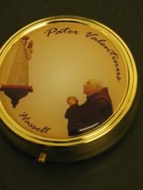 Pyxis Hostie doosje  Pater Valentinus 6 cm doorsnede