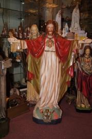 Jezus Heilig Hart 85 cm gips ca. 1900