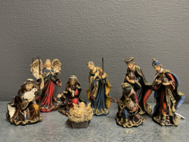 Kerstgroep, Italiaans, barok, 10 delen, resin 10 cm (9)
