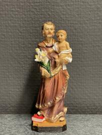 Jozef, resin, 12 cm, huiselijk geluk. (5)