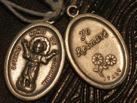 Devotie medaille Divino Nino 2 cm