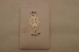.Hugenoten kruis 3 cm, zilver (925)