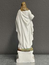 Jezus Heilig Hart 24 cm, biscuit porselein voor 1900 (1)