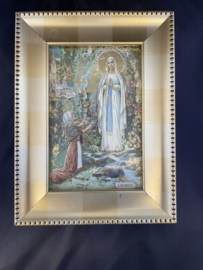 OLV Maria van Lourdes in kader, 20 x 15 cm (2)