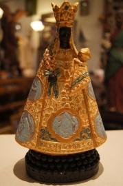 .Maria OLV van Halle 22 cm, gips, Zwarte Madonna