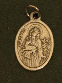 Devotie medaille Agnes  2.5 cm