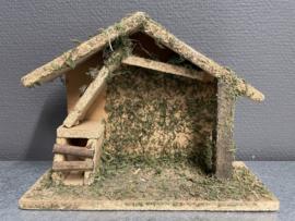 Kerststal, hout, 23x18x9 cm (9)