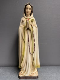 Maria Rosa Mystica 47 cm, hout, 1980 (18)