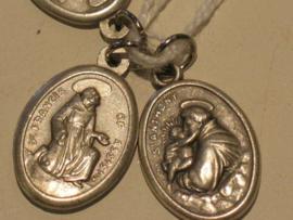 Devotiemedaille  heilige Antonius en Franciscus