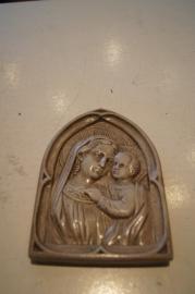Maria met kind plaquette 13 x 10 cm gips
