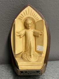 Herinnering Heilige Communie, gips/hout, 17 cm (0)