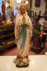.Maria OLV van Lourdes, gips 39 cm hoog