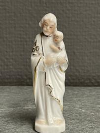 Jozef, porselein, vuistbeeldje, 8 cm (8)
