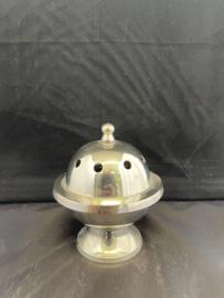 Wierookbrander nikkel 9 cm doorsnee met koolbakje (5)