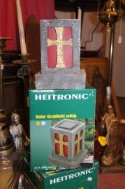 Graf lamp / licht op zonne-energie met sensor 13 x 13 x 18cm