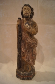.Judas Thadeus 46 cm Goa houtsnijwerk 18e eeuw