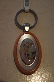 Sleutelhanger heilige Michael, kunststof