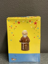 Franciscus van Assisi, aardewerk, 9 cm (10)