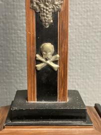 Staand kruis, Ebben en Palissander hout 44x 18 cm 19e eeuw (8)